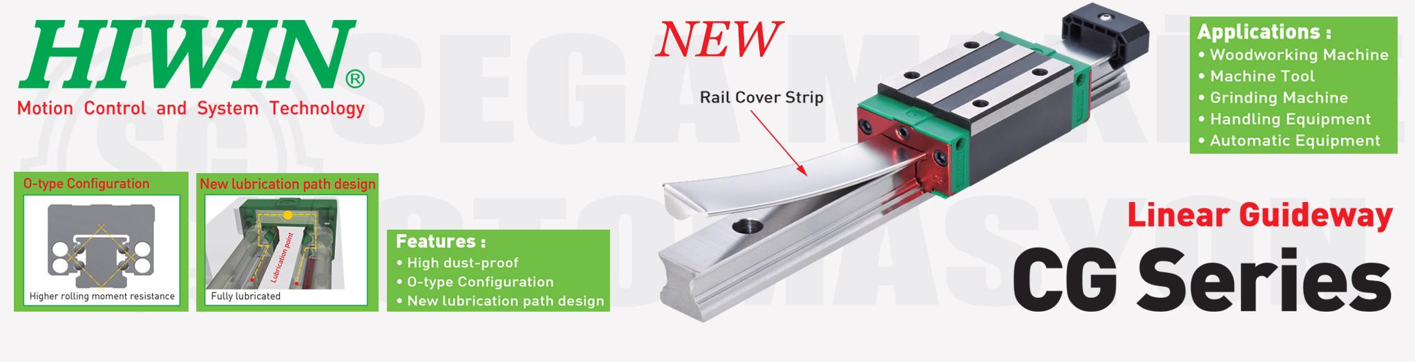 Hiwin yeni ürünü, CG Serisi Linear Kızak